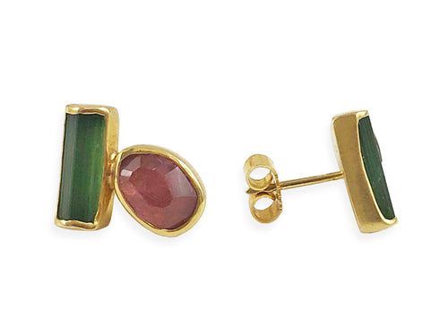 Green Tourmaline Stud Earrings at the Best Jewelry Store in Washington DC