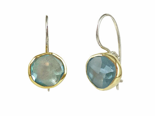 Sea Blue Aquamarine Drop Earrings
