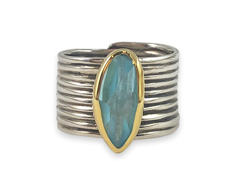 Sea Blue Aquamarine Ring