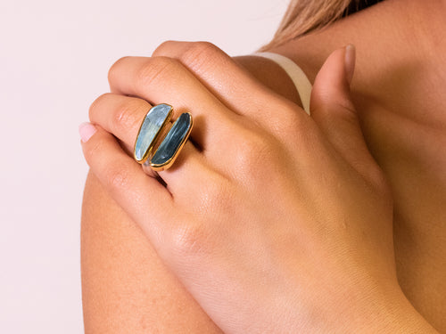 London Blue Topaz and Aquamarine Ring