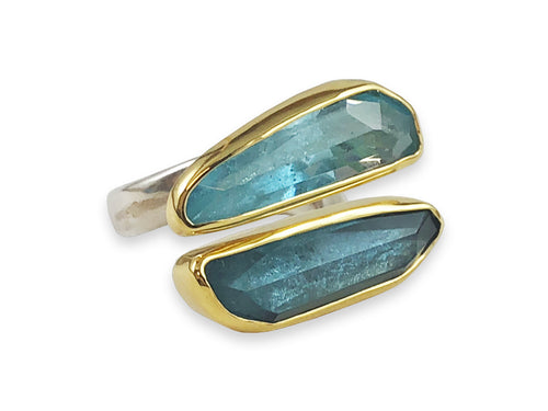 Blue and Bluer Gemstone Ring