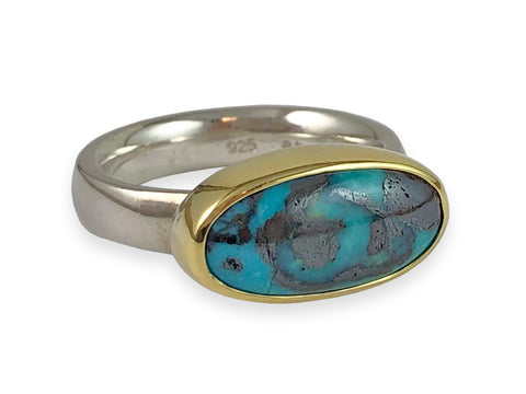 Opal and Diamond Galaxy Ring