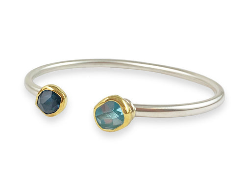 Aquamarine and London Blue Topaz Bracelet