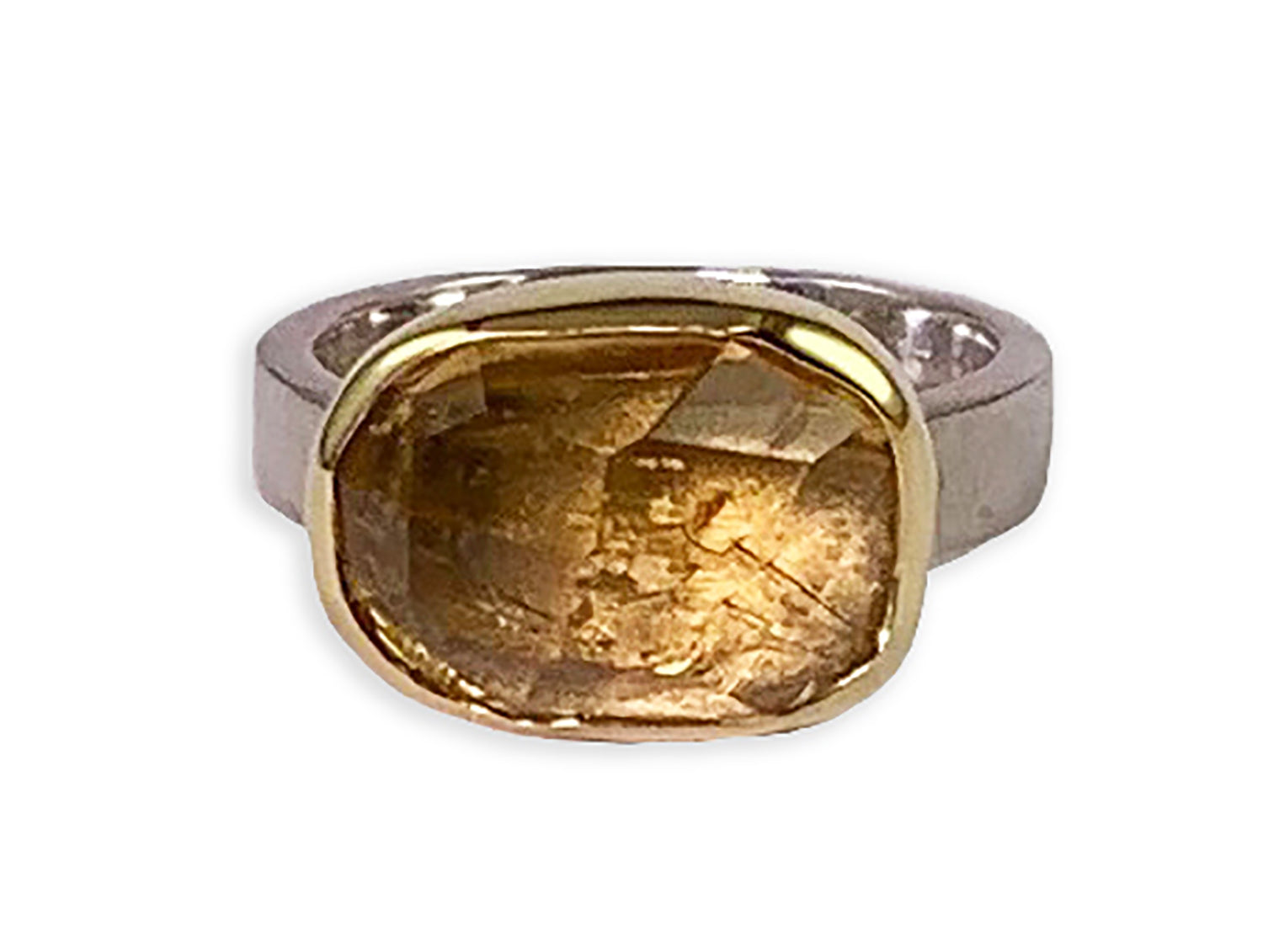 Bezel Citrine Ring