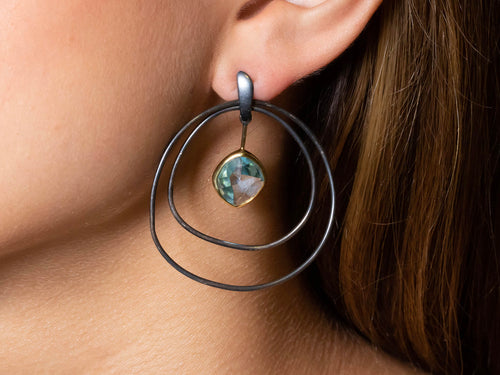Swirling Aquamarine Earrings