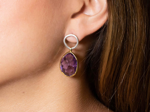 Faceted Amethyst Earrings