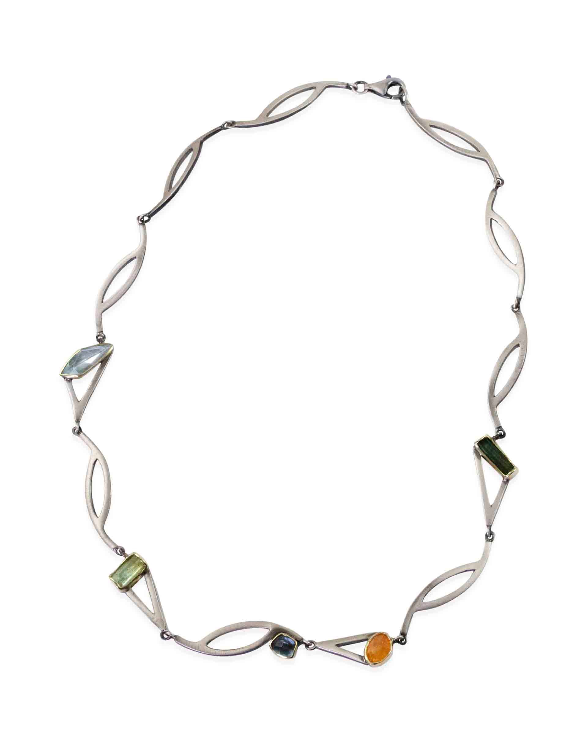 Multi-Faceted Gemstone Necklace