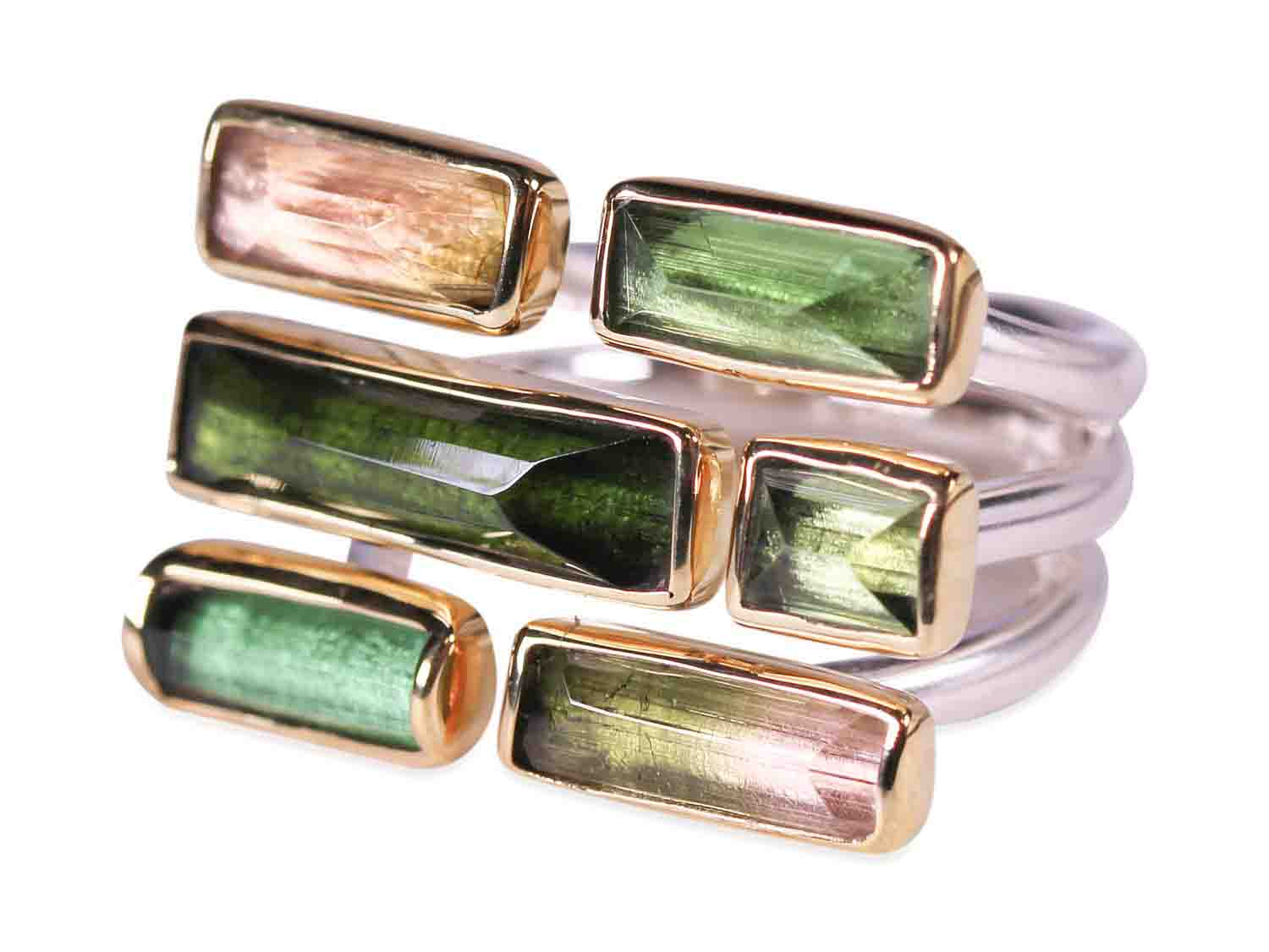 Multi-Color Tourmaline Ring