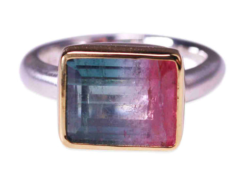 "Rainbow-hued Gemstone ""Bubble"" Ring"