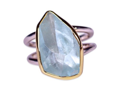 Bezel Set Aquamarine Ring