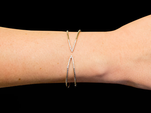 Mattia Cielo White Gold and Diamond Flex Bracelet