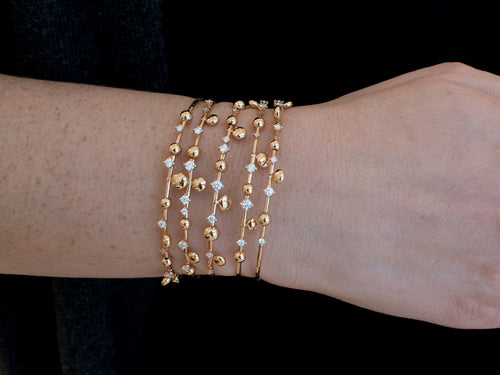 Unique Mattia Cielo Rose Gold and Diamond Wrap Bracelet
