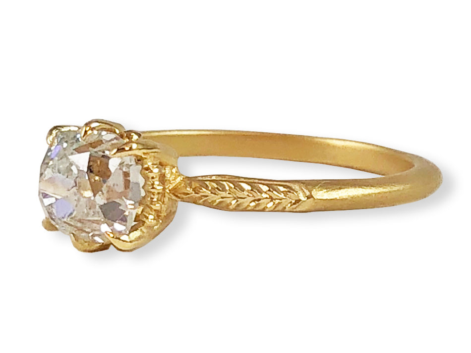 "Megan Thorne 18K Yellow Gold and Diamond ""Evergreen"" 3-Stone Engagement Ring in Washington DC"