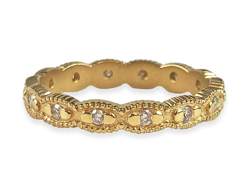Megan Thorne 18K Yellow Gold and Diamond Scalloped Wedding Band in Washington DC
