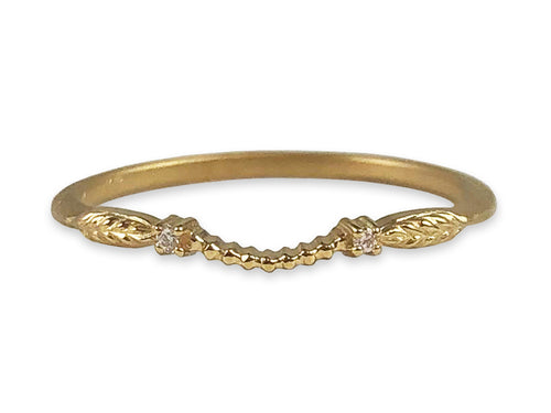 "Megan Thorne 18K Yellow Gold and Diamond ""Evergreen"" Eternity Curved Wedding Band in Washington DC"