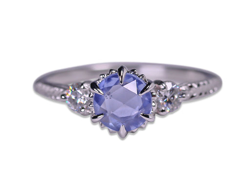 "Diamond and Sapphire ""Evergreen"" Engagement Ring"