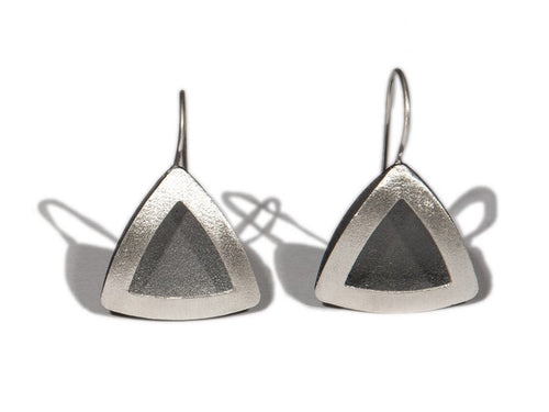 Ruthenium Plated Sterling Silver Earrings