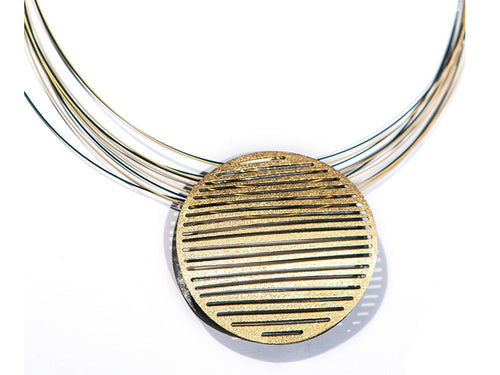 Gold and Ruthenium Plated Sterling Silver Necklace