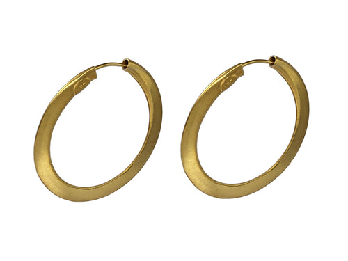 Gold Plated Brass Hoop Earrings