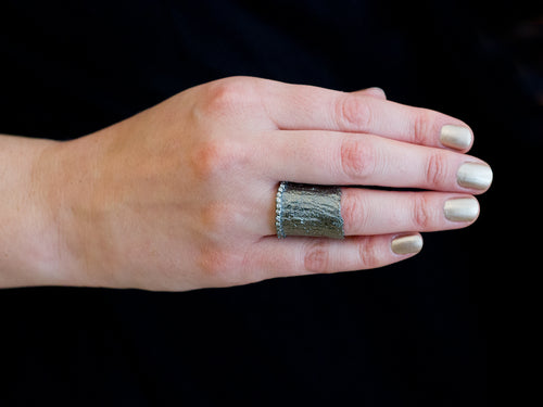 Oxidized Sterling Silver Ring