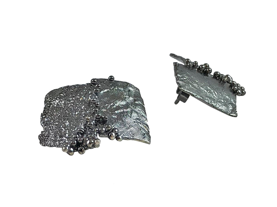 Oxidized Sterling Silver Earrings