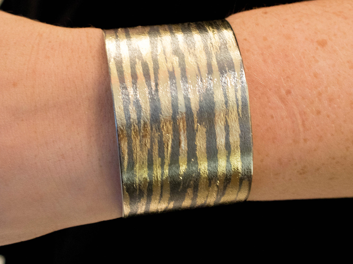 Gold Brushstroke Cuff