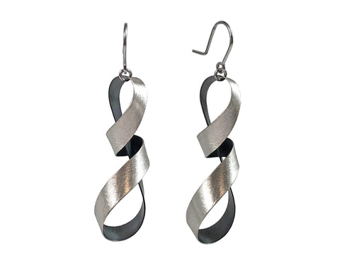 Oxidized and Non-Oxidized Sterling Silver Earrings