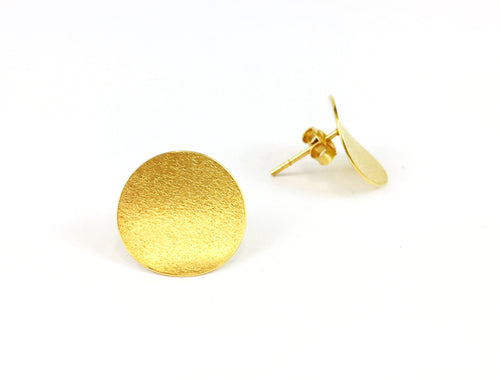 Gold Plated Sterling Silver Stud Earrings