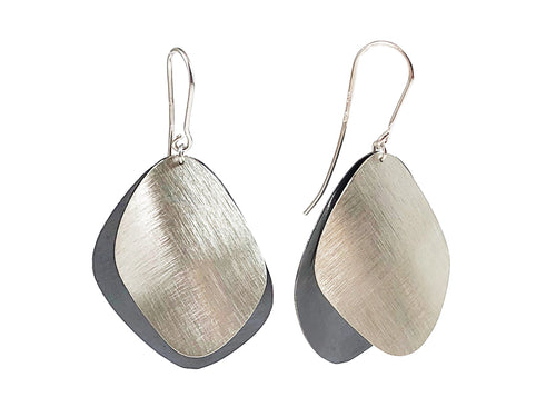 Oxidized Sterling Silver Dangle Earrings