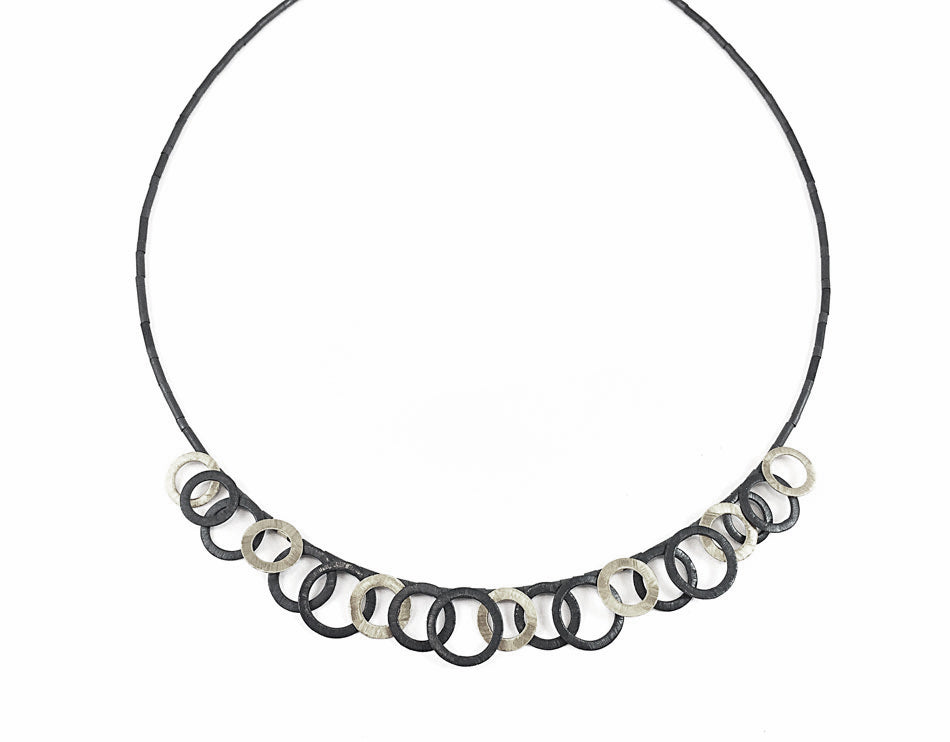 Hematite Loop Necklace
