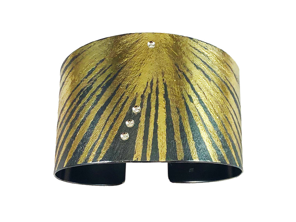 Yellow Gold and Diamond Cuff Bracelet at the Best Jewelry Store in Washington DC