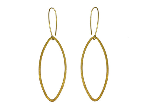 Gold-tone Sterling Silver Earrings