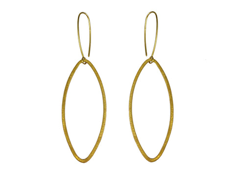 Brass Ribbon Earrings