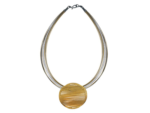 Gold and Ruthenium Plated Necklace