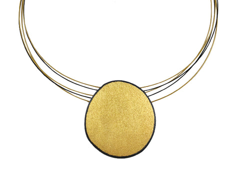 18K Yellow Gold, Platinum and Round-, Marquise- and Pear-Shaped Diamond Necklace