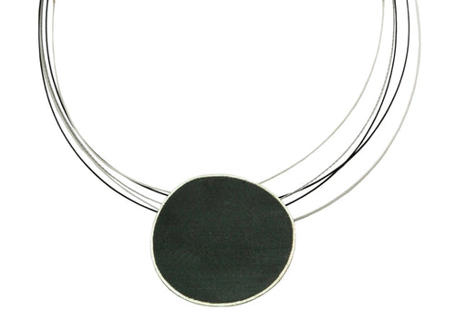 Partially Ruthenium Plated Sterling Silver Necklace