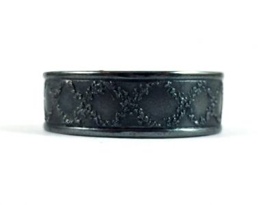 Oxidized Sterling Silver Men's Ring