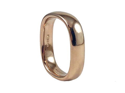 Palladium and Inverted Diamond Fissure Men's Wedding Band