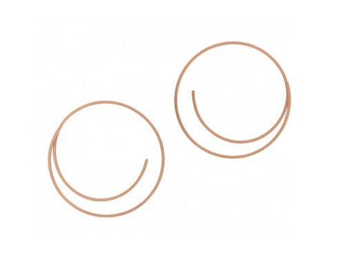 Niessing Red Gold Hoop Earrings