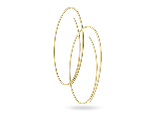 "Yellow Gold ""Linear"" Earrings"