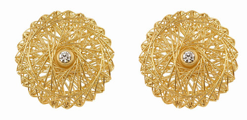 Diamond Filo D'Oro Stud Earrings