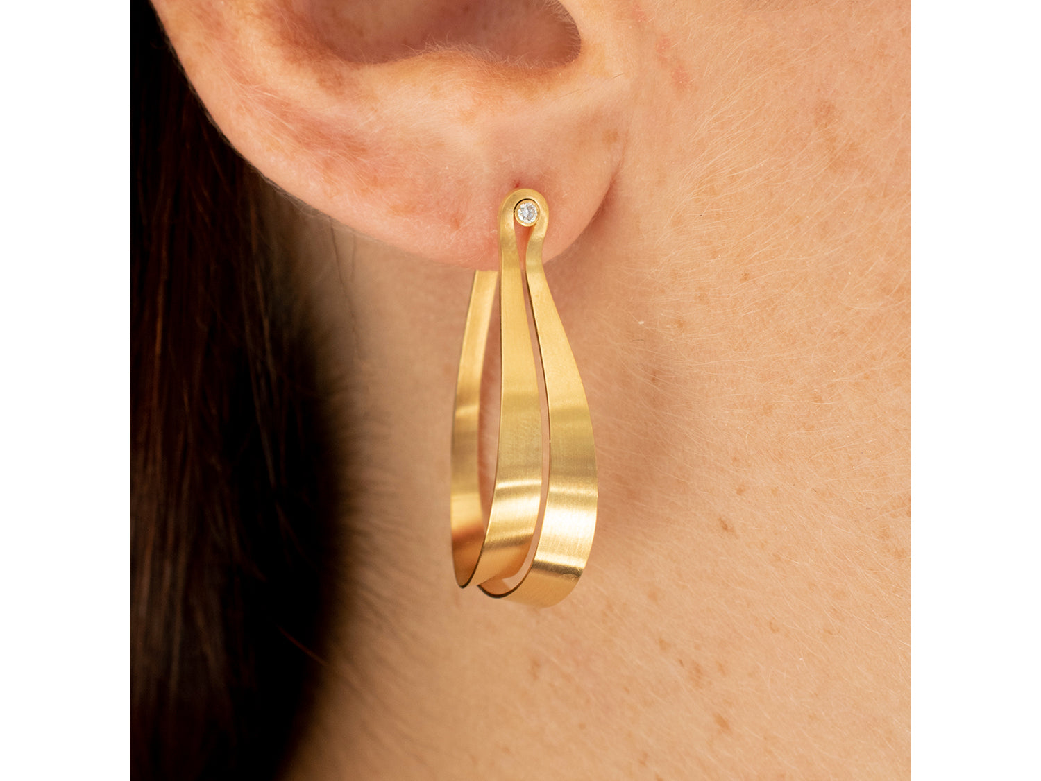 Unique Gold Hoop Earring at the Best Jewelry Store in Washington DC