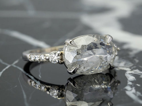 Salt and Pepper Engagement Ring at the Best Jewelry Store in Washington DC