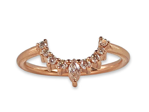 "18K Rose Gold and Diamond ""Molly"" Wedding Band"
