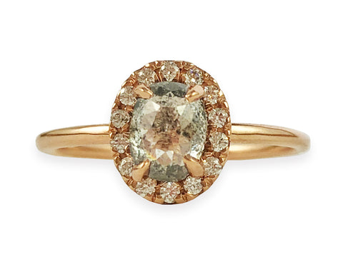 "18K Rose Gold and Diamond ""Amanda"" Engagement Ring"