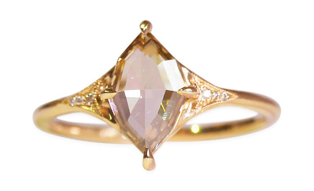 "Marquise Rose Cut Diamond ""Aela"" Engagement Ring"