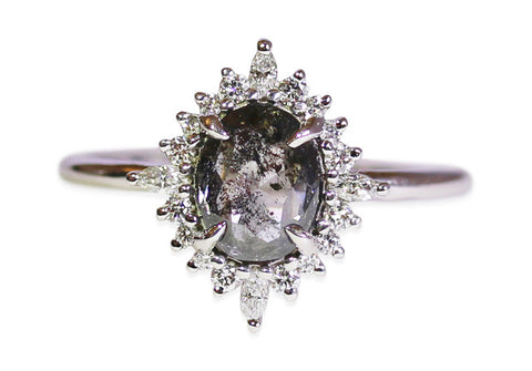 Antique Diamond Encrusted Ring