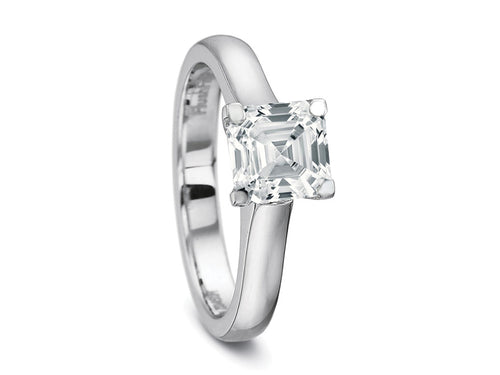 Palladium Solitaire Engagement Ring Mounting