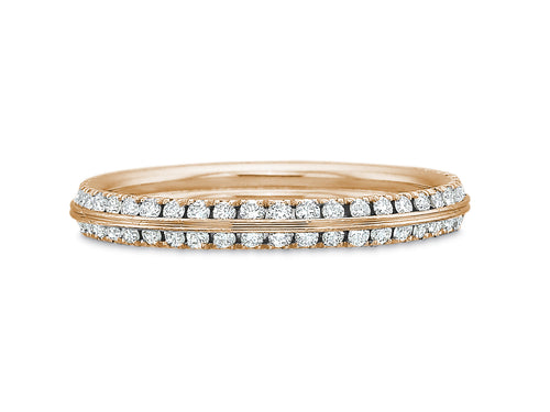 Precision Set Rose Gold Diamond Wedding Band in Washington DC