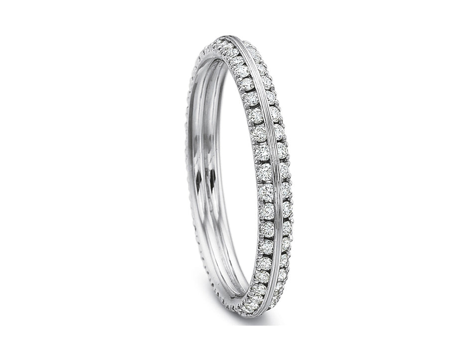 Simple White Gold Diamond Wedding Band in Washington DC